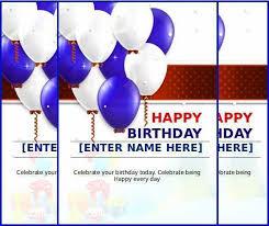 happy birthday cards best word happy birthday card template best of 18 ms word format birthday
