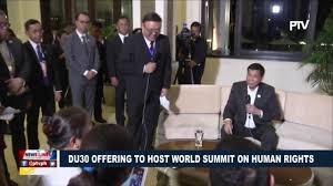 president duterte offering to host world summit on human rights