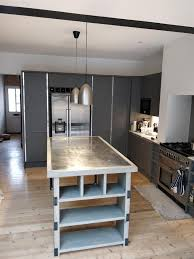 industrial style kitchen islands style kitchen island with zinc top