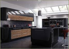ikea high gloss black kitchen doors outstanding black and wood kitchens that will add style to