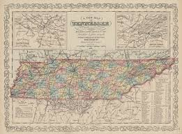 Tennesse Map Map Of Tennessee With Its Roads Shades Of Gray And Blue