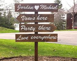 personalized wooden wedding signs wood wedding sign etsy