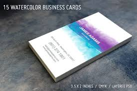15 watercolor business cards business card templates creative
