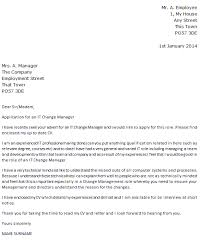 it change manager cover letter example u2013 cover letters and cv examples