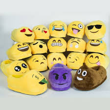 aliexpress com buy popular emoji plush indoor slippers adults