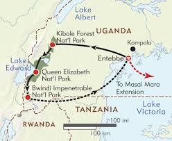 Uganda Africa Map by Uganda Private Journey Itinerary U0026 Map Wilderness Travel