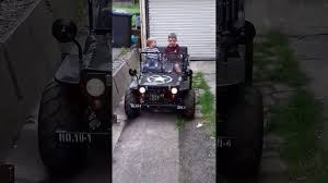 mini jeep wrangler for kids mini willys kids jeeps 125cc thomas showing how easy to drive 6
