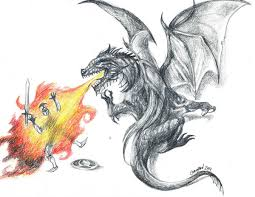 dragon and the epic fail knight tattoo design by goatqueen on
