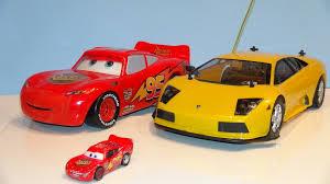 fast lamborghini remote car pixar cars fast talkin lightning mcqueen vs remote