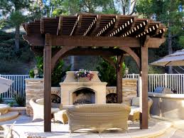 backyard gazebo ideas with traditional stone fireplace and outdoor