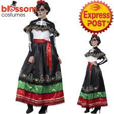 Spanish Dancer Halloween Costume Ca430 Dead Senorita Skull Spanish Mexican Dress