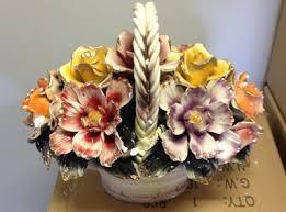 capodimonte basket of roses capo di monte mobile antique price guide