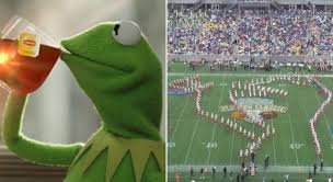 Marching Band Meme - famu marching band uses kermit meme during halftime show video