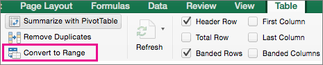 convert the table to a normal range why can t i add subtotals in an excel table excel 2016 for mac