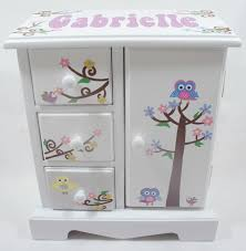 personalized baby jewelry box personalized musical jewelry boxes for to store and decor