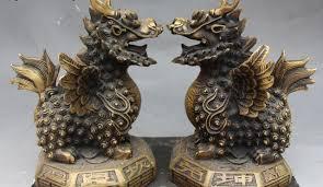 qilin statue free shipping 8 bronze fengshui kylin qilin kilin