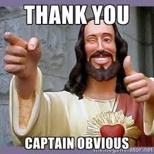 Captain Obvious Meme - thank you captain obvious beautybeyondbones
