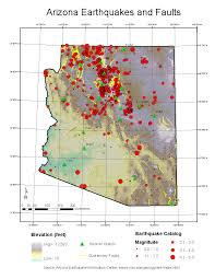 University Of Arizona Map by Aeic Earthquake And Fault Maps