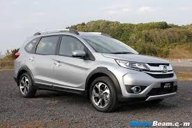 crossover honda 2016 india spec honda br v details revealed returns 21 9 km l