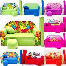 Folding Bed For Kid Blue Sofa Bed For Children Ebay