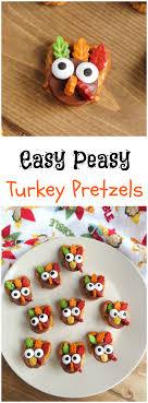 easy peasy turkey pretzels recipe just plum