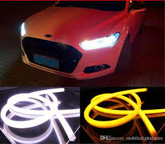 Automotive Led Light Strips 60cm Drl Flexible Led Tube Strip Style Daytime Running Lights Tear