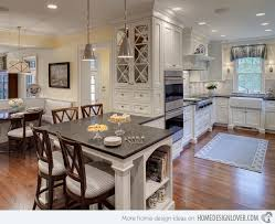kitchen island with built in table 1000 ideas about kitchen alluring built in kitchen table home