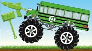 bus monster truck videos spider bus monster truck save red car kids videos video