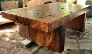 big wooden dining table from bali