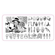 halloween skeleton template 2017 fashion women halloween diy nail art image stamp stamping