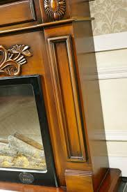 wood fireplace mantel with electric fireplace insert warm air