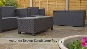 Paving Slabs For Patios by Nustone Autumn Brown Indian Sandstone Paving Garden Patio