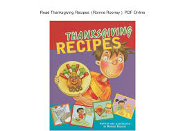 read thanksgiving recipes ronnie rooney pdf