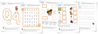 alphabet parade letter q worksheets and activity suggestions
