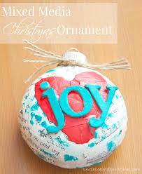 mixed media christmas ornament