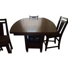 Raymour And Flanigan Living Room Lamps Raymour U0026 Flanigan Cherry Wood U0026 Glass Dining Table W Aptdeco