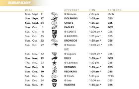 Do The Packers Play On Thanksgiving Los Angeles Chargers 2017 Schedule Released Los Angeles Chargers
