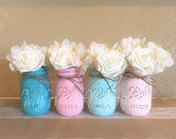 baby shower centerpieces distressed mason jars