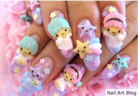 3d hello kitty japanese nail art