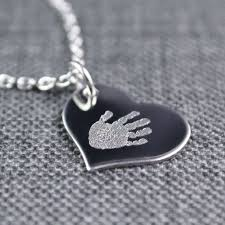 footprint necklace personalized 9 best handprint footprint jewelry images on