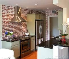 brick red kitchen cabinets interior kitchen design with white