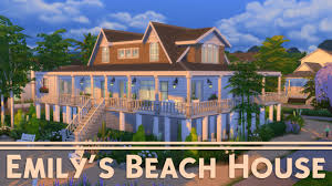 Beach House Building Plans The Sims 4 House Building Emily U0027s Beach House Revenge Youtube