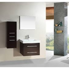 24 Inch Bathroom Vanity Combo by Inch White Cabinet Wall Mount Bathroom Vanity With Mirror And