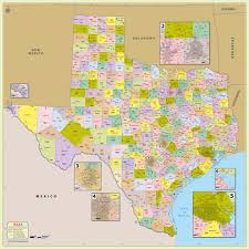 New Mexico County Map by Buy Texas Zip Code With Counties Map