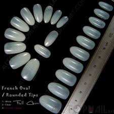 french oval rounded acrylic artificial false nail tips 100x