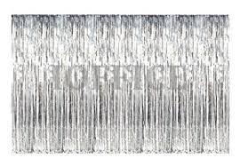 Silver Foil Curtains Metallic Silver Foil Fringe Curtains 12 Ft X 8 Ft