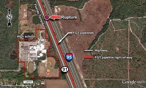 rupture next to i 95 and high school in rupture of florida gas