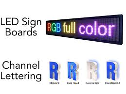 led sign boxes u0026 channel lettering practical printing company