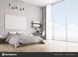 chambre avec mur en chambre avec mur de béton et plancher en bois photographie
