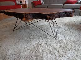 Coffee Table With Metal Base by Mid Century Cats Cradle Coffee Table Base Raw Steel Base